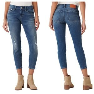 Lucky Brand Lolita distressed skinny crop jeans 14